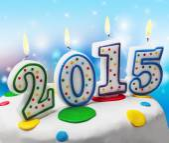 Burning new year candles on the cake — Stock Photo