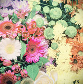 Background with colorful flowers — Stock Photo