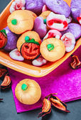 Jujube and souffle for Halloween — Stock Photo