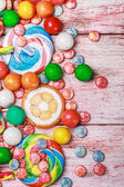Multicolored sweets and chewing gum   — Stock Photo
