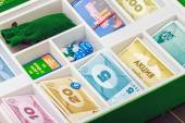 Monopoly game on the table  — Stock Photo