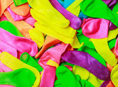 Multicolored not inflated balloons — Foto de Stock