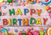 Letters from happy birthday cookies — Foto Stock