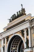 Triumphal Arch, crowned by the Chariot of Glory — Stock Photo