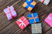 Gifts box in a colorful package   — Stock Photo