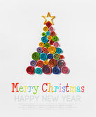 Christmas tree made of paper made by Quilling — Stockfoto