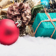 Christmas balls and gifts   — Stock Photo #57705331