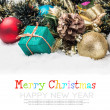 Christmas balls and gifts — Stock Photo #57705407