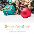 Christmas balls and gifts — Stock Photo #57705409