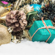 Christmas balls and gifts — Stock Photo #57705411