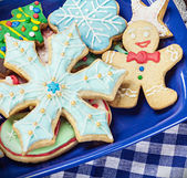 Homemade Christmas gingerbread cookies — Stock Photo