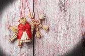 Christmas toys of straw   — Stock Photo