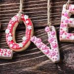 Valentines Day LOVE cookies — Stock Photo #59192879