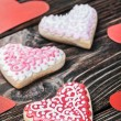 Valentines Day Heart shaped cookies — Stock Photo #59192941