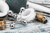 Plumbing and accessories — Stock Photo