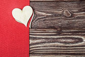 Hearts cut out of plywood — Foto de Stock