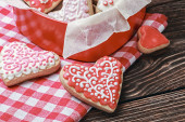 Valentines Day  Heart shaped cookies — Stockfoto