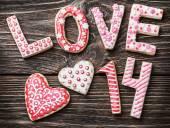 Valentine's Day cookies — Zdjęcie stockowe