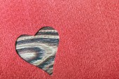 Heart cut from felt  — Foto de Stock