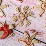 Christmas toys of straw — Stock Photo #59755299