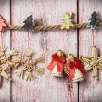 Christmas toys of straw — Stock Photo #59755789