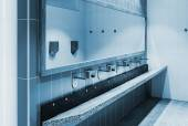 Clean public washrooms interior   — ストック写真
