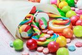 Lollipops and candies — Stock Photo