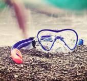Mask and snorkel to swim  — Stock Photo