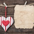 Valentine's Day card with heart — Stock Photo #62514903