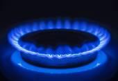 Burning blue gas — Stock Photo