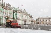 Snow removal on the Palace Square — Photo