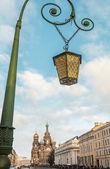 Old lantern on bridge — Stock Photo