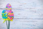 Decorative Easter felt eggs — Stok fotoğraf