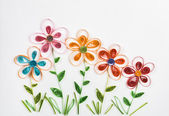 Colorful quilling flowers — Stok fotoğraf