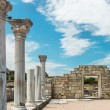 Ancient Greek basilica and marble columns — Stock Photo #67316199