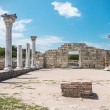 Ancient Greek basilica and marble columns — Stock Photo #67316201