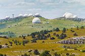 Crimean observatory on the plateau of Mountain Ai-Petri — Stock Photo