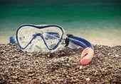 Máscara y snorkel buceo — Foto de Stock