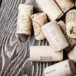 Wine corks famous wine producers — Stock Photo #68135573