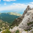 High rocks Ai-Petri of Crimean mountains — Stock Photo #68135673