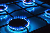 Burning blue gas — Stock Photo