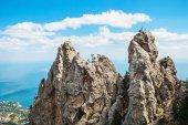 High rocks Ai-Petri of Crimean mountains — Stock Photo