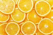 Fresh Orange Slices background — Stock Photo