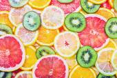 Fruit slices background — Stock Photo