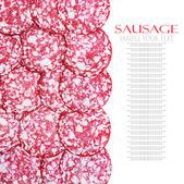 Slices of smoked sausage Brunswick — Stock Photo