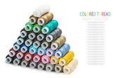 Pyramid of sewing multicolored threads — Stock Photo