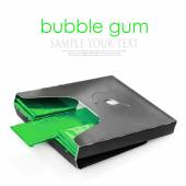 Chewing gum in green packaging — Stock Photo