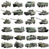 Russian armoured military vehicles — Stock Photo