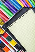 Różnych przyborów szkolnych — Zdjęcie stockowe