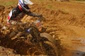 Motocross biker — Stock Photo